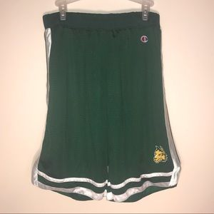 Champion WSU Raider green mesh shorts L